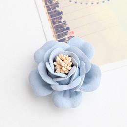 Silver hair acceSSorieS flower online shopping - Flower Head cm Mini Hair Flower with Stamen for Kids Girls Hair Accessories Artificial Fabric Flowers for Headbands Wedding
