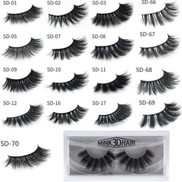 Wholesale 3D Mink Eyelashes Eyelashes Messy Eye lash Extension Sexy Eyelash Full Strip Eye Lashes By chemical fiber DHL