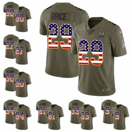 Green Bay Limited football Jersey Packers Olive USA Flag 2017 Salute to  Service 80 Jimmy Graham 12 Aaron Rodgers 23 Jaire Alexander 28 ceecd0b9f