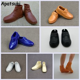 Accessories For Boots Shoes NZ - Doll Shoes Sneakers Shoes For Ken Male Dolls Accessories Casual For Boyfriend Prince Ken 1 6 Men Doll Boots