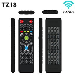 Tablet Wireless Controller Australia - TZ18 2.4GHz Mini Keyboard Wireless Remote Controller with Backlight Air Mouse IR Learning 86 Keys Keyboards for TV Tablets