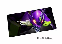 anime laptop 2019 - anime evangelion mousepad best 60x30cm gaming mouse pad gamer mouse mat cool pad keyboard computer padmouse laptop play