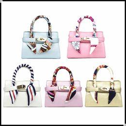 d180b82a41 New Candy Color Kids Handbag With Scarf 2018 Designer Baby Girl Shoulder  bags Fashion Children Girls Messenger Bags Toddler Purses KW-BA198