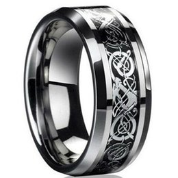 $enCountryForm.capitalKeyWord UK - New Punk Ring for Lover Vintage Engagement Dragon Steel Ring for Men & women Lord Wedding Rings Free Shipping