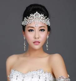 Hair crown cHain online shopping - Fashion Bridal Crystal Wedding Tiaras Crown Hair Accessories For Wedding Quinceanera Tiaras And Crowns Rhinestone Pageant Hair Jewelry