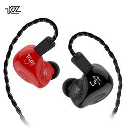 Toptan satış KZ ZS4 Kulaklık 1DD + 1BA Hibrid teknolojisi HIFI Stereo Kulaklık Kulak Monitörü Spor Kulaklık Gürültü Iptal Oyun Kulakiçi