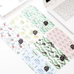 $enCountryForm.capitalKeyWord NZ - 5 pcs pack Creative Many Cactus Plant Envelope Letter Paper Message Card Letter Stationary Storage Paper Gift