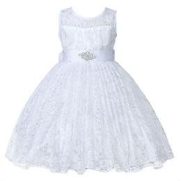 Wholesale short gauze wedding dress for sale – plus size Girls Dress Lace Bow Silk Gauze Party Dress Children Sleeveless Wedding Bridesmaid Costume