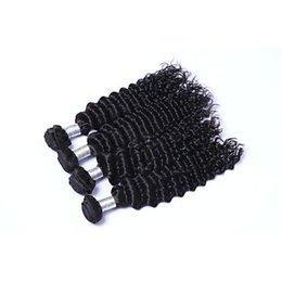 Chinese  9.5-8% discount Malaysian Deep Curly Hair Weave Bundles 100% Human Hair Non Remy Hair Extensions 6a Unprocessed Double Weft manufacturers