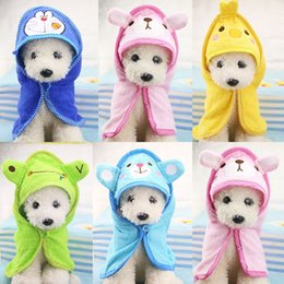 $enCountryForm.capitalKeyWord Australia - Puppy Super Absorbent Bathrobe Cleaning Necessary Towels Supply Cute Pet Dog Towel Soft Drying Bath Pet Towel for Dog Cat Hoodie