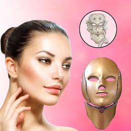 $enCountryForm.capitalKeyWord NZ - 7 Colors PDT Light LED Photon Facial Mask Neck Face Home Skin Care Rejuvenation Therapy Wrinkle Removal