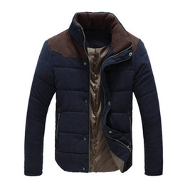 quilted parka men Australia - New Autumn Winter Stand Collar Jacket Men Parka Quilted Padded Wadded Windbreaker Male Mens Jackets And Coat Parkas Overcoat Free Shipping