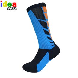 towel feet UK - high quality professional cool big size socks cotton elastic thick towel bottom basket foot knee sox