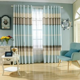 $enCountryForm.capitalKeyWord Canada - Fresh and Simple Style Velvet Linen Blackout Printing Curtain for Living Room Bedroom Fabrics Color Bars Window Blinds Drapes