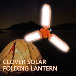 Blue shell lamp online shopping - solar lantern lamp USB green orange shell outdoor hiking camping solar lights foldable night lamp energy saving