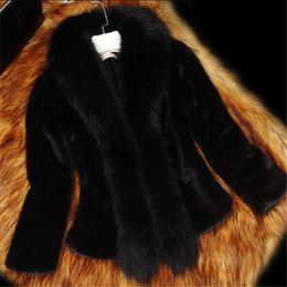 $enCountryForm.capitalKeyWord Australia - 2018 New Autumn Winter Short Women's Faux Fur Jacket Fashion Slim Thin Fur Coats Winter Warm Large Size High end Jacket 317