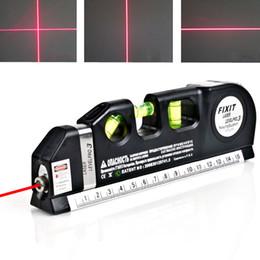 laser cross lines 2019 - Pro Measuring Tape Tools Infrared Laser Level Ruler Horizontal Vertical Cross Line Laser Leveler For Indoor Decoration c