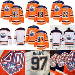 744136126 2018-19 40th Anniversary 1917-2019 Patch Edmonton Oilers Connor McDavid  Ryan Nugent-Hopkins Tobias Rieder Ryan Strome Men Women Youth Jersey