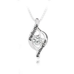 Grandmother pendants online grandmother pendants for sale 2018 family christmas gift the love between grandmother and granddaughter is forever crystal heart letter pendant alloy necklace 380009 aloadofball Gallery