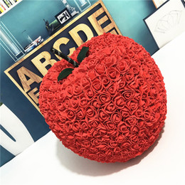 Large Size Valentines Gift Rose Apple Multicolor 40 PE Flower Diy For Wedding Girlfriend Anniversary Birthday Free Shipping