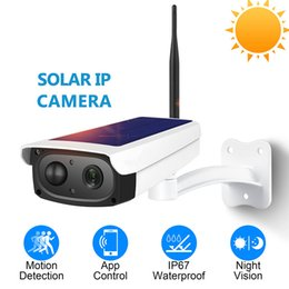 ip pir camera NZ - 1080P HD Surveillance IP Camera Waterproof Outdoor Security Solar Battery Charge Camera WIFI Cameras Audio PIR Motion