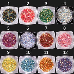 Shining Dust Glitter Australia - New Shining Gold Silver Nail Glitter Powder Dust 3D Sequins For Nail Art Dust Flakes Decorations UV Gel Polish 12 Color Suit