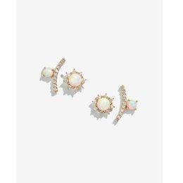 Nuevo De Acero Quirúrgico sintéticas Opal Stone Lengua Bar Stud 14g elección de colores