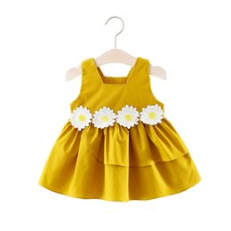 Wholesale Newborn Baby Dress Polka Dots Ruffles Sleeve Dresses for Girls Vestidos Infant Clothing Summer Party Clothes For Children