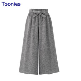 Chinese  Autumn 2018 New Womens All-match Wide Leg Pants Female Elastic High Waist With Sashes Loose Panalones Feminino Loose Trousers manufacturers