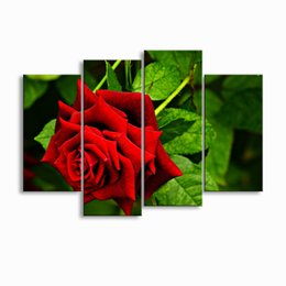 Art Canvas Prints NZ - painting & calligraphy print Rose canvas poster wall art living room restaurant Bedroom Decorative paintings MGE4-003
