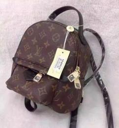 Mini peekaboo online shopping - 2018 High Quality Design Genuine Women Leather Mini backpack Bag Children Backpack Luxury Famous Fashion Springs Palm