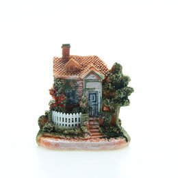 China Crafts Figurines Miniatures Artificial Mini Micro Landscape House Resin Crafts Fairy Garden Decoration Home Miniature Garden Decoration A... suppliers