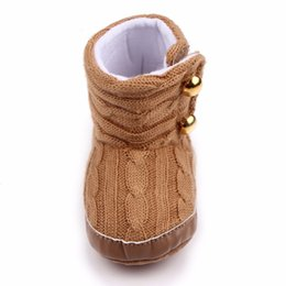 toddler snow shoes 2018 - 2018Winter Toddler Crib Shoes 0-12 Months Baby Infant Child Boy Girls Warm Snow Boots cheap toddler snow shoes