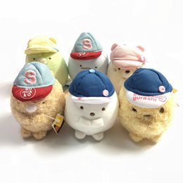 """$enCountryForm.capitalKeyWord Canada - Top New 3"""" 8CM Sumikko With Baseball Hat Plush Doll Anime Collectible Dolls Party Gifts Stuffed Soft Toys"""