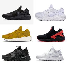 Discount huaraches for - New Huarache 4 IV casual Shoes For Men Women, Black White High Quality Sneakers Triple Huaraches Jogging Sports Shoes Eu
