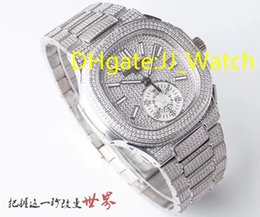 Best Brand watch Boxes online shopping - Hot Top Quality Best Mens Watch Luxury Diamonds Wristwatch Automatic Diameter mm Stainless Swiss Watch With Brand Box And Papers