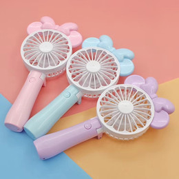 Kids toy fans online shopping - Mini Folding Portable Cartoon Fan USB Rechargeable Handheld Air Cooler Cooling Fan Kids Gifts Toys FFA174