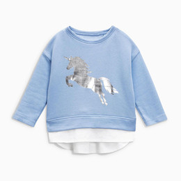 girls horse clothes 2019 - Little maven 2-7Years Autumn New Cartoon Horse Kid's Girl's Baby's Sweatshirt Children's Clothes For