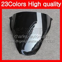 Vente en gros Nouveau pare-brise moto pour Aprilia RS4 125 RS125 06 07 08 09 10 11 RS 125 2006 2007 2008 2011 Chrome Noir Clair Pare-brise Smoke
