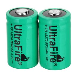 Chinese  UltraFire 3V CR2 15270 CR2 800mah Rechargeable Lithium Battery Digital Camera made a special battery Green manufacturers