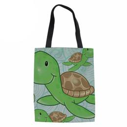 $enCountryForm.capitalKeyWord Canada - Ladies Beach Large Shoulder Bag Sea Turtle Canvas shopping Tote Folding Women Eco Bag for Females Beach Travel Package