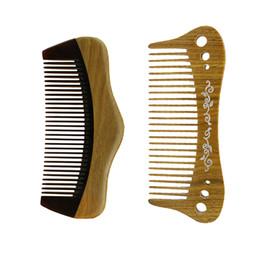 New Hair Cutting Men UK - New Horn Sandalwood Wooden Pocket Comb Hair Brush Tangle Detangling Massage Women Hairbrush Men Beard Shaving Cut Gift Wholesale