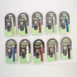 Großhandel Vape Pen Batterie VV 510 Thread Batterien 350mAh 3.4V-4.0V Blister Verpackung Vorwärmbatterie für Vape Oil Cartridge Eicg E Zigaretten