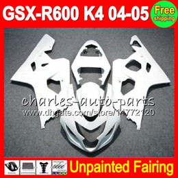 Unpainted Fairings Australia - 8 Gifts Unpainted Full Fairing Kit For SUZUKI GSX-R600 04 05 GSXR600 GSXR 600 GSX R600 K4 04 05 2004 2005 2004-2005 Fairings Bodywork Bodys