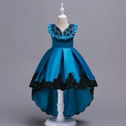 $enCountryForm.capitalKeyWord Canada - INS HOT SALE Children lotus lace Princess Girls Birthday party dance dress Performance Costume cocktail dress Tulle dress D19