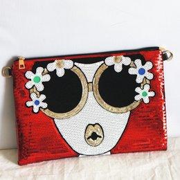 58952bb45df9 Мода женщин новый клатч свет сумка яркий характер Посланник дикий большой  емкости конверт