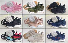 Red canvas shoes foR kids online shopping - New Air Huarache s Running Shoes For Men Women Gold High Quality Sneakers Triple Huaraches Trainers huraches Baby Kids Athletic Shoes