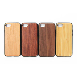 Hybrid Iphone Phone Case NZ - Clear Blank Wood Bamboo Phone Cases For iPhone 6 7 8 6s Slim Dual Layer Wood + PC + TPU Hybrid Cases For iPhone