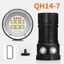 Portable underwater fishing lights online shopping - 6pcs QH14 W LM Underwater M IPX8 Waterproof Professional LED Diving Torch Flashlight Photo Photography Video Light