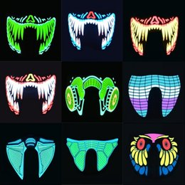 $enCountryForm.capitalKeyWord Canada - Halloween LED Masks The Purge Election Year Fashion Horror Glowing Ghost Mask Scary Cosplay Props Masquerade Light Up Masks